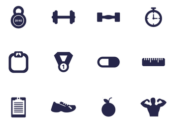 Gym Icon Vector Pack - vector #438245 gratis