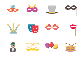 Masquerade Party Icon - vector gratuit #438255
