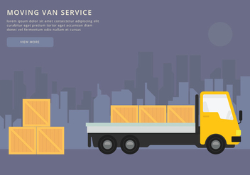 Moving Van or Truck. Transport or Delivery Illustration. - vector #438265 gratis
