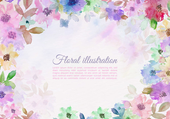 Free Vector Colorful Watercolor Flower Border - Kostenloses vector #438295