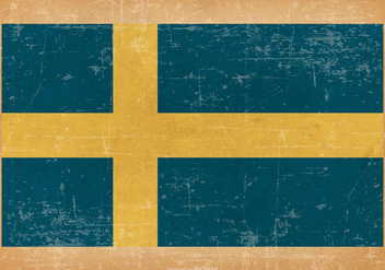 Grunge Flag of Sweden - Free vector #438355