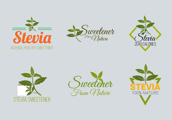 Stevia Label Logo Vector Collection - Kostenloses vector #438365