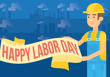 Labor Day Vector Background - vector gratuit #438385