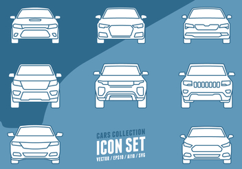 Cars Collection Icons - vector gratuit #438405