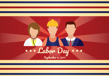 Labor Day Vector Art - vector gratuit #438425