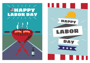 Labor Day Poster Vectors - бесплатный vector #438435