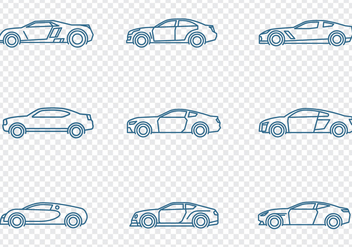 Cars Icons Set - vector gratuit #438445