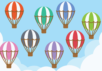 Hot Air Balloon Icon Vector - бесплатный vector #438475