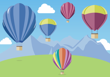 Hot Air Balloon Vector - бесплатный vector #438485