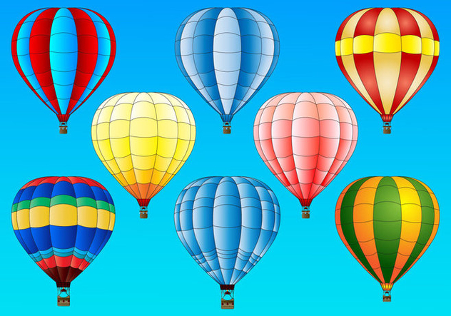 Hot Air Balloon vector set - Kostenloses vector #438495