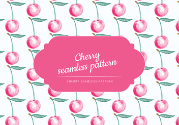 Vector Hand Drawn Cherry Pattern - vector gratuit #438535