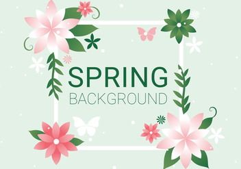 Free Spring Season Vector Background - vector gratuit #438555