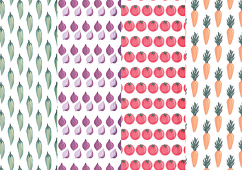 Vector Hand Drawn Vegetables Patterns - Free vector #438565