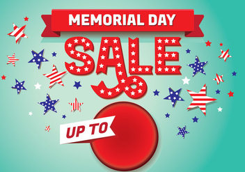 Memorial Day Sale Background Template - vector #438665 gratis