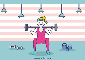 Squat Workout Vector Background - Free vector #438695