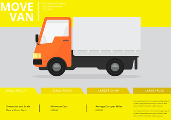 Moving Van or Truck. Transport or Delivery Illustration. - Free vector #438705