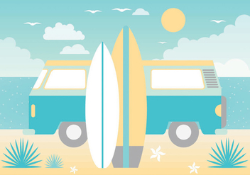 Free Summer Paradise Vector Greeting Card - vector gratuit #438765