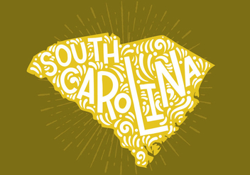 South Carolina State Lettering - vector gratuit #438795