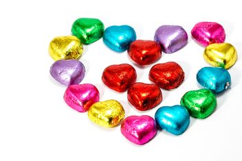 Heart shaped of chocolate candy - бесплатный image #439035