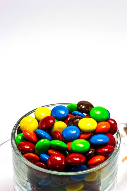 A cup of multi color chocolate candy - Free image #439045