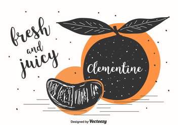 Clementine Illustration Background - Free vector #439345