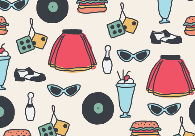 50s Pattern - Free vector #439355