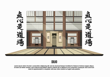 Dojo Room Background Vector Illustration - бесплатный vector #439375