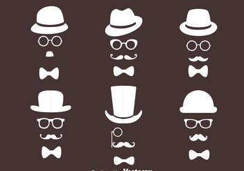 Old Man Retro Style Collection Vectors - vector gratuit #439405