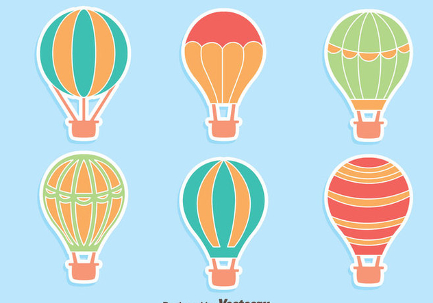 Hot Air Balloon Collection Vectors - Kostenloses vector #439415