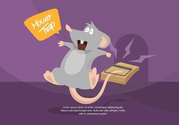 Mouse Trap Illustration - vector gratuit #439535