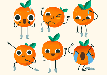 Clementine Cute Character Pose Vector Illustration - vector gratuit #439545