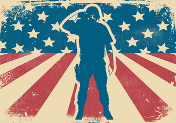 Retro Memorial Day Background - vector gratuit #439555