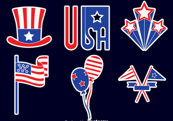 Great Independence Day Element Vectors - vector #439575 gratis