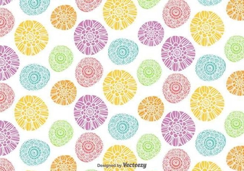 Vector Colorful Flowers Pattern - бесплатный vector #439585