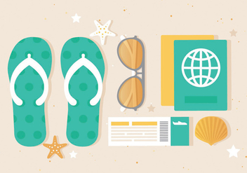 Free Flat design Vector Summer Elements - Free vector #439595