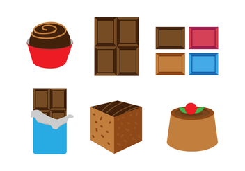 Chocolate Vector Set - vector gratuit #439625