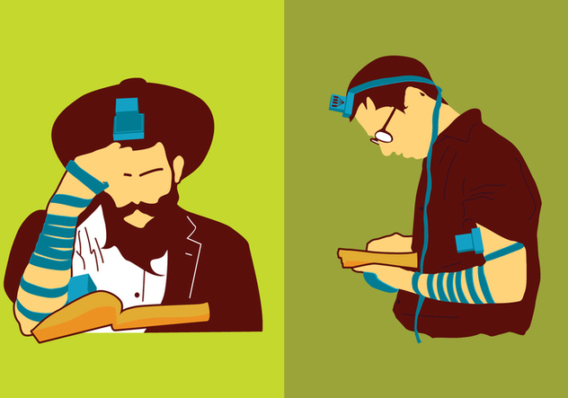 Jewish Man Praying - бесплатный vector #439635