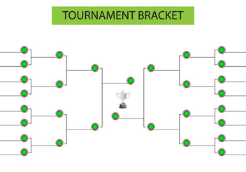 Tournament Bracket Blank Template Vector - vector gratuit #439645