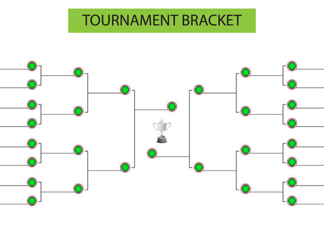 Tournament Bracket Blank Template Vector - Free vector #439645