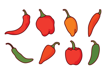 Chili Peppers Vector Pack - vector gratuit #439705