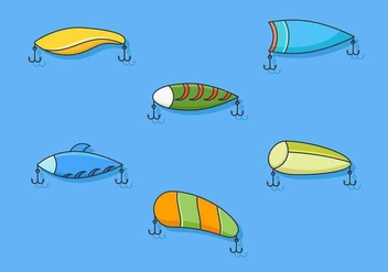 Free Outstanding Fishing Tackle Vectors - Free vector #439715