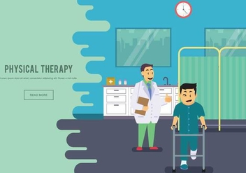 Free Physiotherapist With His Patient Illustration - vector gratuit #439745
