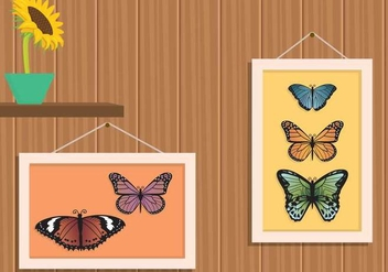 Free Mariposa In Frame Illustration - бесплатный vector #439775