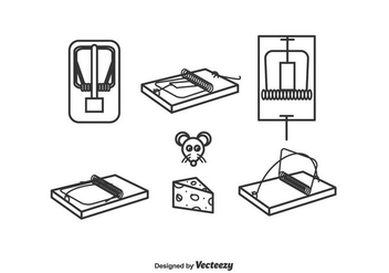 Mouse Trap Vector - vector #439785 gratis