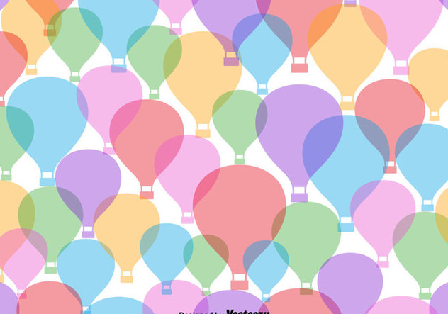 Colorful Hot Air Balloon Icon Seamless Pattern - Kostenloses vector #439805