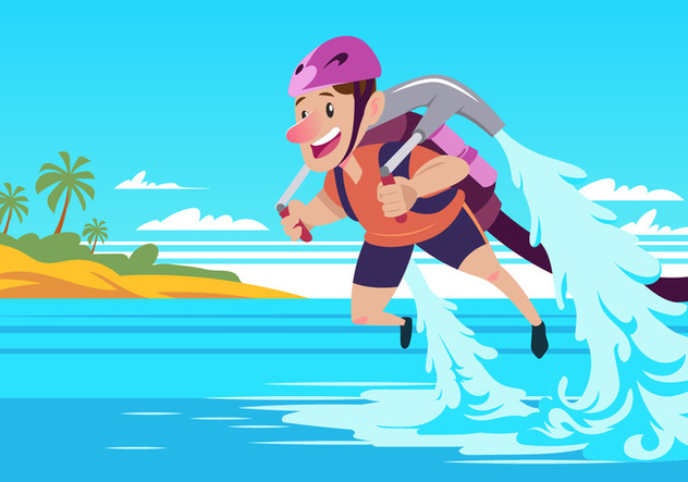 Water Jet Pack - Free vector #439845
