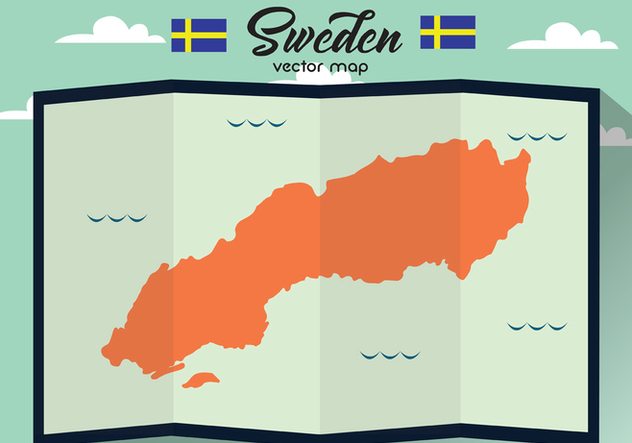 Sweden Vector Map - Free vector #439885