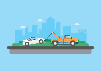Free Towing Car Illustration - vector #439925 gratis