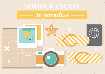 Free Vector Summer Elements - vector gratuit #439995