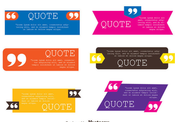 Testimonials Quote Template Collection Vectors - vector gratuit #440015